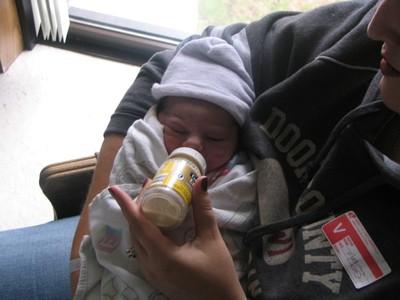 Miriam  with bottle